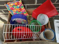 Hamster stuff!(new)wheels ladders etc plus food bedding & 2 hamster balls(used)