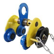 181971 Heavy Duty 1 T Overhead Geared Beam Trolley Hoist Lifing Tackle W/ Chain