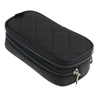 Cosmetics Bag Double Layer Makeup Bag with Mirror Beauty Makeup Brush Pouch