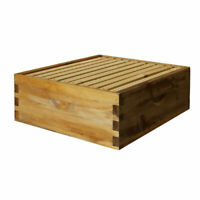Natural Bees Wax Coated Langstroth 10 Frame Medium Box w/ Frames and Foundations