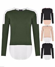 Cotton Scoop Neck Patternless Jumpers & Cardigans for Women