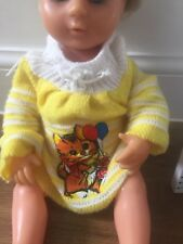 Vintage Jumper/dress  Fits Tiny Tears (Doll Not Included) Press Stud Fastener