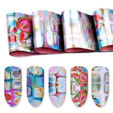 16Pcs/ Pack Holographic Nail Art Foils Gradient Starry Stripe Transfer Stickers