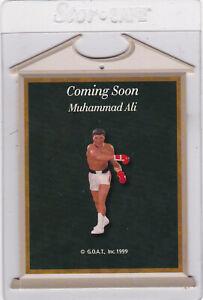 Muhammad Ali Hallmark Ornament RARE Coming Soon Display Card G.O.A.T. Inc. 1999