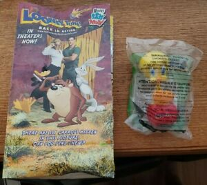 Wendy's 2003 Looney Tunes Back In Action Movie Kids Meal Bag, Tweety Bird Toy
