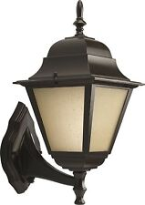 Homestyle HS77008-125 One Light CFL Medium Wall Lantern-Up/Die Cast in Bronze