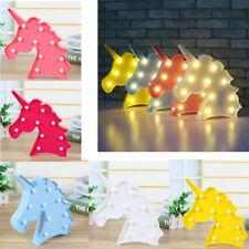 Cute Unicorn Head LED Letter Table Lamp Night Light Children Gifts Room Light UK