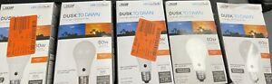 Feit Electric 60W Equivalent Soft White A19 LED Dusk to Dawn Light Bulb (5-Pack)