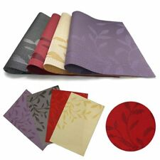 4pcs/set Dining Table Place Mats PVC Placemats Pad Weave Woven Effect Modern