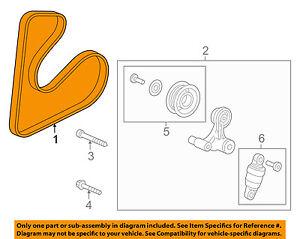 HONDA OEM-Serpentine Drive Fan Belt 311105LAA02