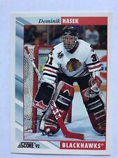 1992/93 Score Hockey Card #373 Dominik Hasek Chicago Blackhawks NM/MT