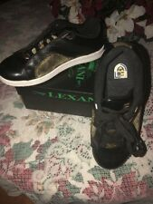 Lexani Men Black Gold Mesh Skateboarding BMX Shoe US Shoe SIze 9