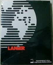 """Lanier Transparency Film Black on Red 50 Sheets 8.5""""x11"""" For Plain Paper Copiers"""
