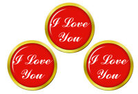 I Love You Marqueurs de Balles de Golf