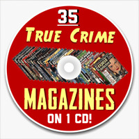 Lot of 35 True Crime Detective Magazines Magazine True Story Crime on cd-rom
