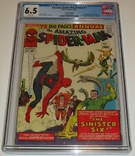 The Amazing Spider-Man Annual #1....CGC 6.5..White Pages....Marvel,1964...