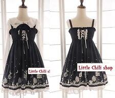 Japan Trendy Kawaii Princess Cute Sweet Dolly Gothic Lolita Sleeveless Dress DB