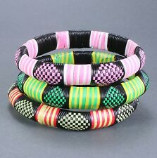 Made from recycled material. African. Set of 3 Burkina Faso bangles.