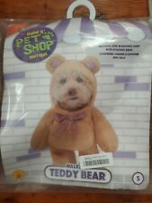 Rubies Pet Shop Boutique Walking Teddy Bear Costume Small New Halloween Dog