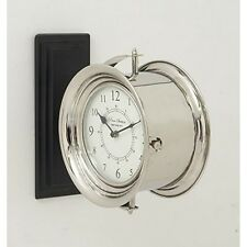 "Benzara 40666 Stylish Wood Double Wall Clock 12"" W X 12"" H New"