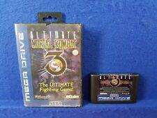 *Sega Mega Drive ULTIMATE MORTAL KOMBAT 3 (NI) Game Boxed PAL