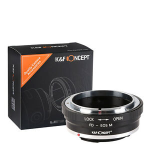 K&F Concept adapter for Canon FD mount lens to Canon EOS M1 M2 M3 camera