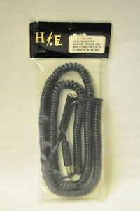 H/E XC-100 25 foot coiled stereo/headphone extension cord with 3-conductor plug