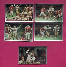 5 X 1990 PANINI 49ERS SUPER BOWL ACTION STICKERS CARD (INV# A4982)