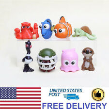 Finding Nemo Dory Crush Otter 8 Pcs Movie Action Figure Cake Topper Gift Toys Us