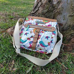 Lily Bloom Womens Designer crossbody handbag  Flower Birds Summer Eco recycled