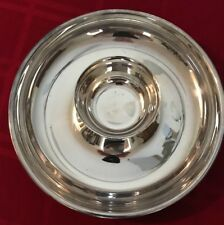 Beautiful Silver Plate Chip and Dip Tray and Cup