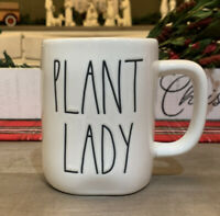 Rae Dunn By Magenta - LL PLANT LADY - LL WHITE W Green Interior Coffee Mug