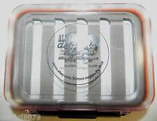 Almont Anglers Medium Waterproof Double Sided Clear Fly Box Slots For 250 Flies