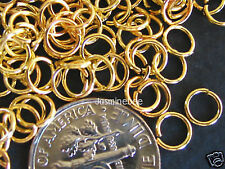 fg01 Open Jump Rings, Gold Plated, 5mm, 1000