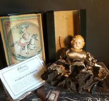 Antique Reproduction Dressed China Doll Named Dolly Dimples with Box