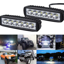 18W 6000K LED Work Light Bar Driving Lamp Fog Off Road SUV Car Boat Truck WR