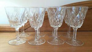 8 x Vintage Retro VMC Reims Wine Sherry Port Glasses France 1970s