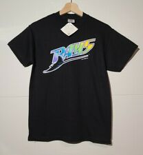Vintage 90s Tampa Bay Devil Rays Logo Black T-Shirt Sport Champions RARE NWT