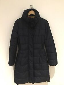 Joules Ladies Langridge Navy Blue Padded Puffer Coat Jacket Size 12 UK