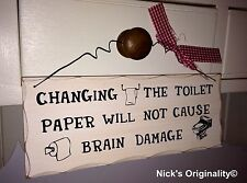 Novelty Toilet Decorative Wall Plaques