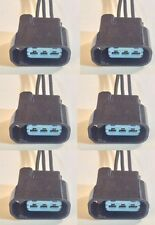 6x Plug connector harness pigtail for Honda Acura ignition coils with wire