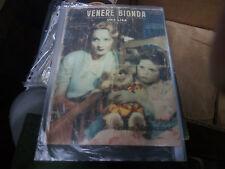 Venere bionda-Marlene Dietrich -Cinema Illustrazione-feb1933-rara rivista suppl.