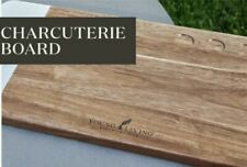 NEW Heavy Young Living Wooden Charcuterie Cheese Board Cutting Board with Marble