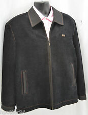 Ying Huang Chinese Black top stitched Outdoors Mens Jacket Zip up coat XXXL 3XL