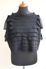 weiter aussergewöhnlicher Kurz Pullover von Mo Koshji, schwarz, Gr. M
