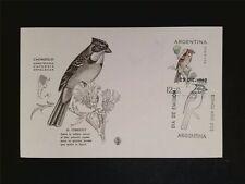 ARGENTINA MK 1962 BIRDS CHINGOLO VÖGEL MAXIMUMKARTE MAXIMUM CARD MC CM c7673