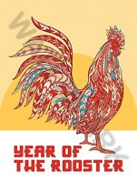 Chinese New Year Rooster Art Print Poster Hp4124