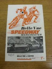 23/05/1970 Speedway Programme: Belle Vue v Exeter [Knock Out Cup] (results/rider