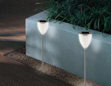 Accionado por energía solar Aura Post Spot Led De Luces De Jardín Twin