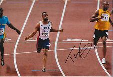 Tyson GAY Autograph 12x8 Signed Photo AFTAL COA SPRINTER USA Athlete RARE
